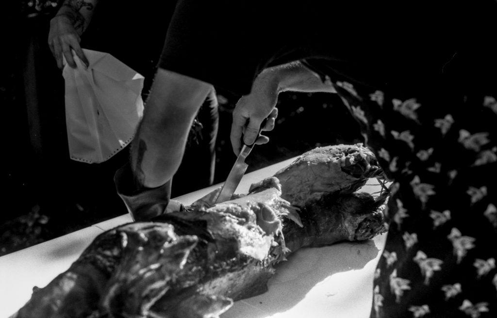 Photo from a backyard pig roast in Iowa City